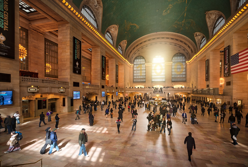 Busy Grand Central Terminal in New York
