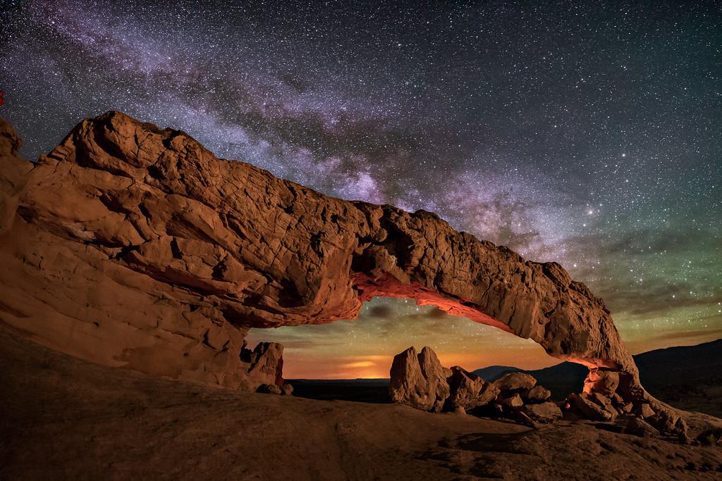 Sunset Arch at Night