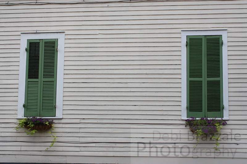 Green Shutters in the French Quarter