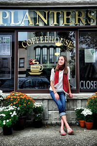 Kelsey Meriwether's senior pictures in Downtown Henderson Friday afternoon, October 5, 2012.