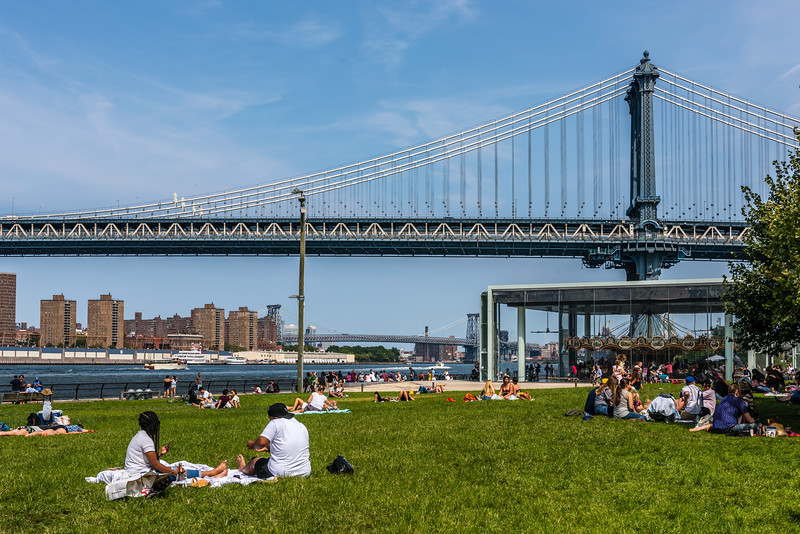 Manhattan Bridge Sunbathers