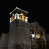 Monastery Bell Tower At Night - Arequipa Peru South America