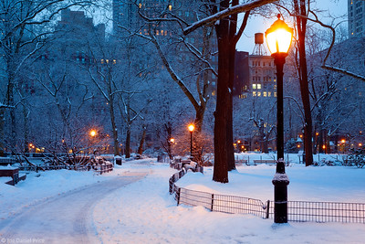 Early Morning at Madison Square Park, New York City, New York, America