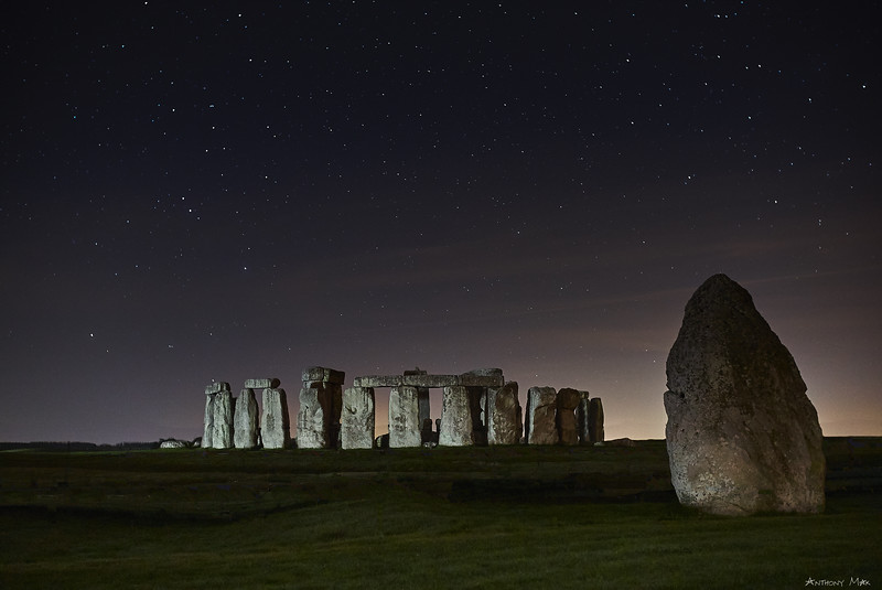 """Stonehenge Under Starry Skies"""
