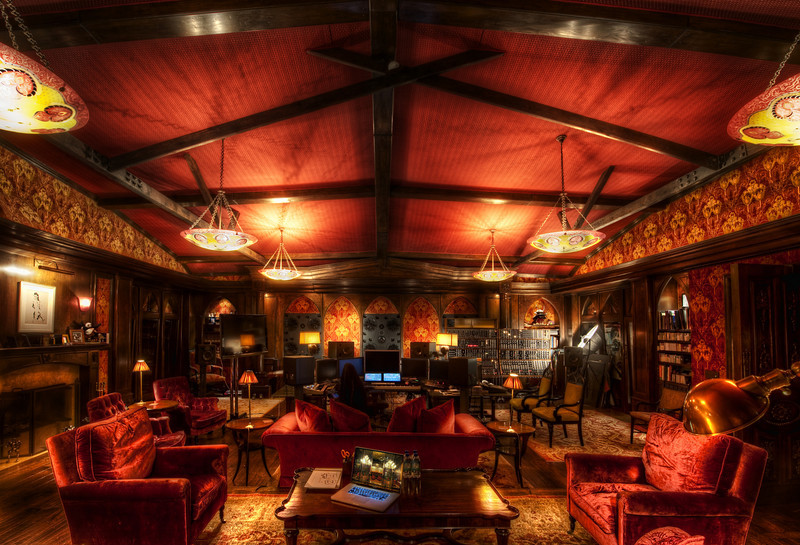 "<h2>Hans Zimmer's Studio</h2> <br/>I don't know if words do it justice, but I hope these photos do. <br/><br/>The studio is even bigger than I thought, and I was reminded of the <a href=""http://www.stuckincustoms.com/2009/03/24/the-haunting-textures-of-the-hotel-sax/"">Crimson Lounge</a> in Chicago.  In fact, I pulled up the image on my laptop there on the table to compare textures and light.  I thought everything worked well together -- the decadence and richness of the decorations integrated with the technology.   I don't know if there is a word for such a look... It's something out of a Phillip Pullman novel, somewhere between Steampunk and Techno-boudoir.  Again, words fail.<br/><br/>The first two photos I have placed on Flickr.  You can click on them to go to Flickr and then zoom into the full-res size.  Amazing details -- especially in the chair photo. I'll post more in coming weeks, months, and years, as usual.  So, stay tuned... my ongoing quest continues!<br/><br/>- Trey Ratcliff<br/><br/><a href=""http://www.stuckincustoms.com/2010/04/18/hans-zimmers-studio/"" rel=""nofollow"">Click here to read the rest of this post at the Stuck in Customs blog.</a>"