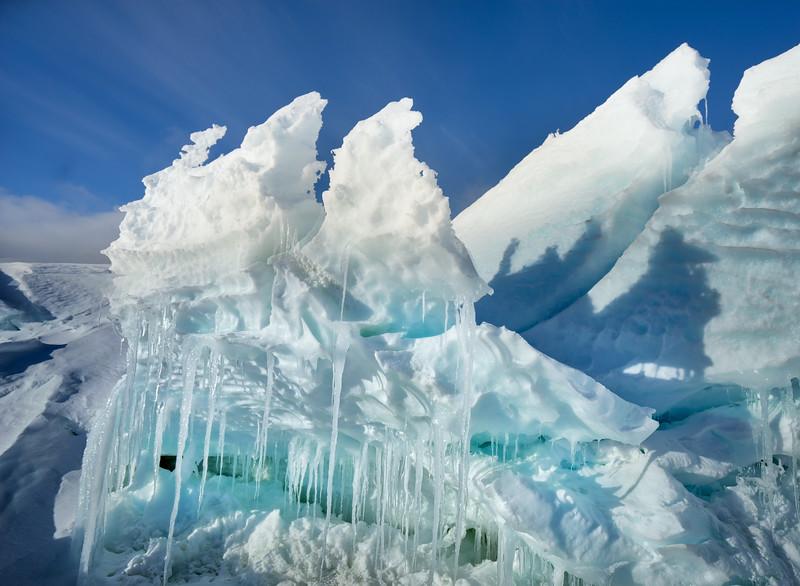 Folded Ice In Antartica