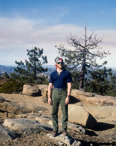 West Big Pine Mountain summit - 01/1984. I lost the lens cap to my Rollei 35T here. If you find it, drop me an email.
