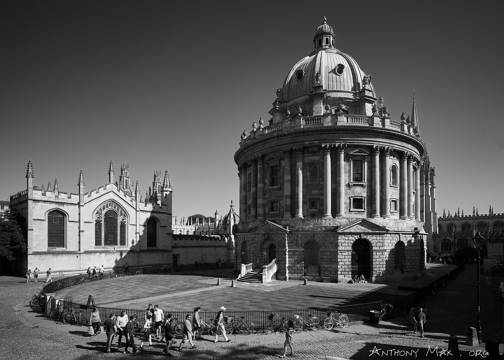 """Radcliffe Camera with Tourists"""