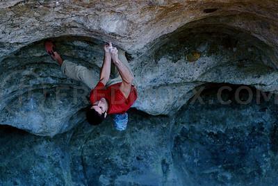 """Fred Rouhling, """"Soumission"""", 8B+/8C, Le Bourrinoire, Haute-Savoie, France."""