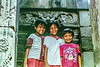 Indonesion kids at Temple