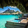 Having a Dip in the Pool in Bora Bora
