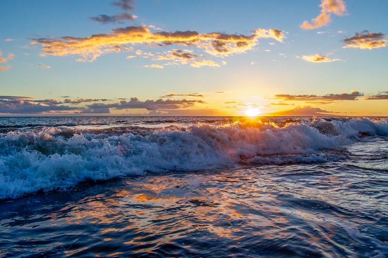 The Sunsets Behind Kaho'olawe Island