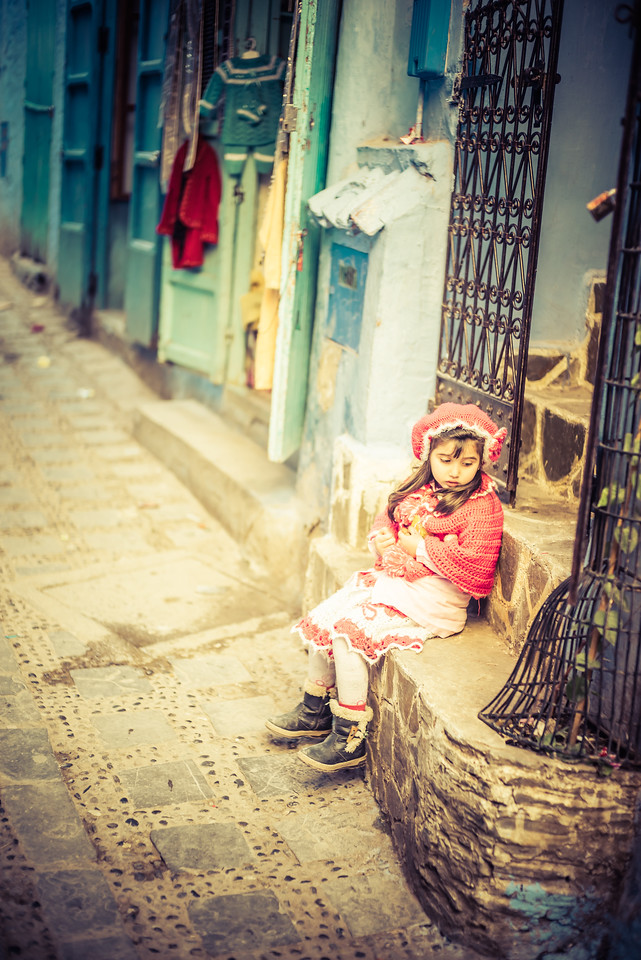 Little Girl in the Streets of Morocco