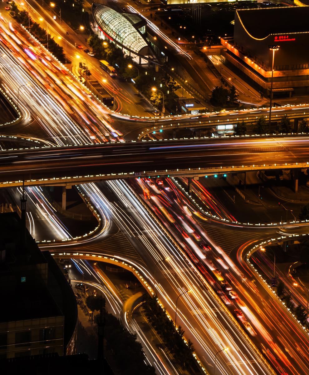 Looking down on Beijing