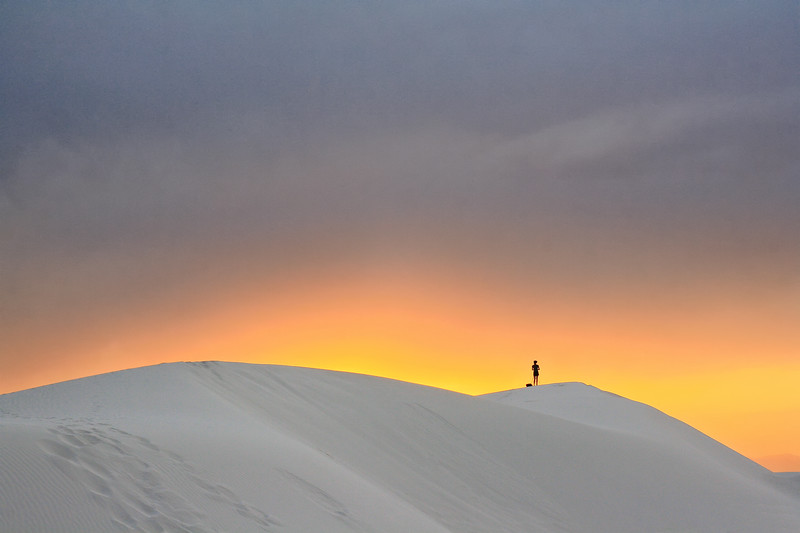 White Sands at Sunset - New Mexico