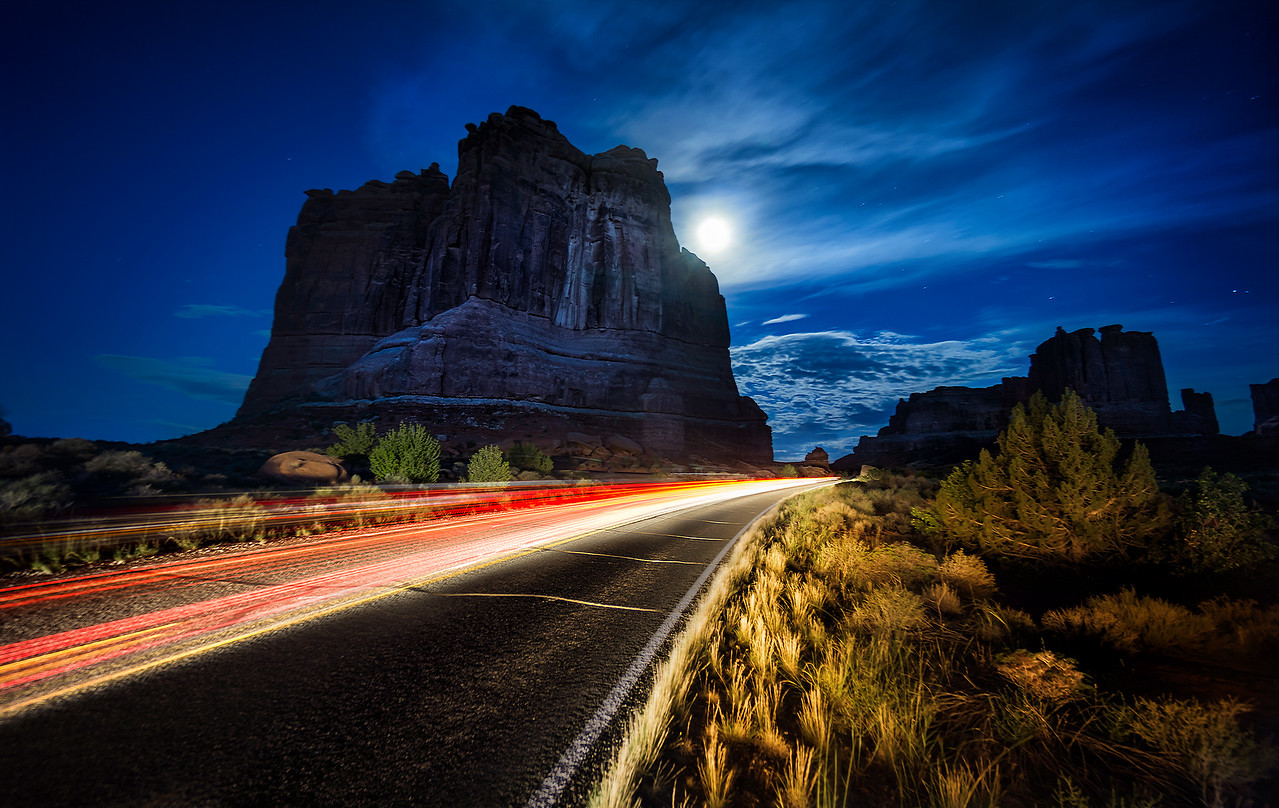 Night in Arches National Park