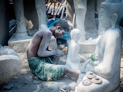 Stonecarver's neighborhood, Mandalay Myanmar.