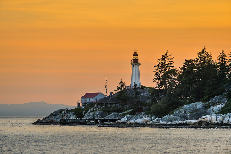 Lighthouse Park at Sunset