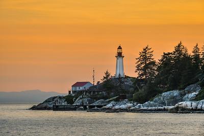 Lighthouse Park at Sunset
