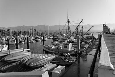 Morning Boats - Santa Barabara