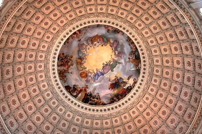 Inside the dome of the US Capital