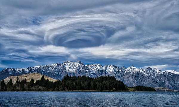 Swirling Vortex Over Lake Wakatipu
