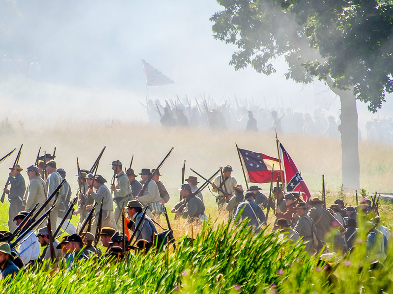 Two Confederate Regiments on the Move