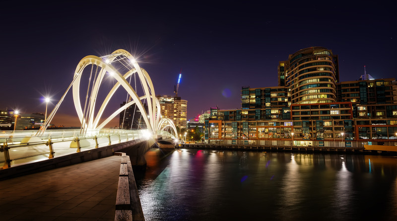 "<h2>Another Bridge in Melbourne</h2> <br/>I like these cities that get all fancy with their bridges. Melbourne certainly does! Each bridge tries to out-do the next. There's no common theme and its sort of a mish-mash of styles, to say the least. I think that not everyone likes this, but I do. I don't mind all the variety, especially from the perspective of photography.<br/><br/>It's kind of the same way with the buildings and other decorative elements around downtown Melbourne. There are so many styles, most of which are one flavor of ""modern"" or ""contemporary"". I enjoy mixing and matching different elements into compositions, but it is not easy. There is a challenging aspect to it that I don't get in many other cities.<br/><br/>- Trey Ratcliff<br/><br/><a href=""http://www.stuckincustoms.com/2013/04/12/another-bridge-in-melbourne/"" rel=""nofollow"">Click here to read the rest of this post at the Stuck in Customs blog.</a>"