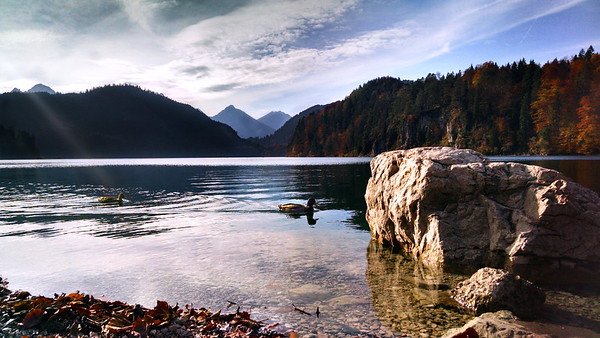 Alpsee Lake in Schwangau, Germany