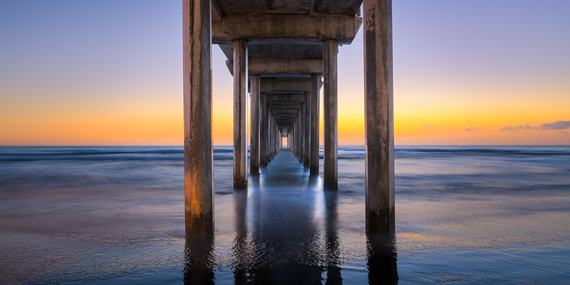 Fine Art Landscape Photo taken at the Scripps Pier, La Jolla California.