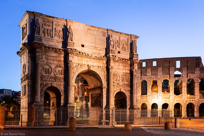 Blue Hour, Arch of Constantine, Rome, Italy