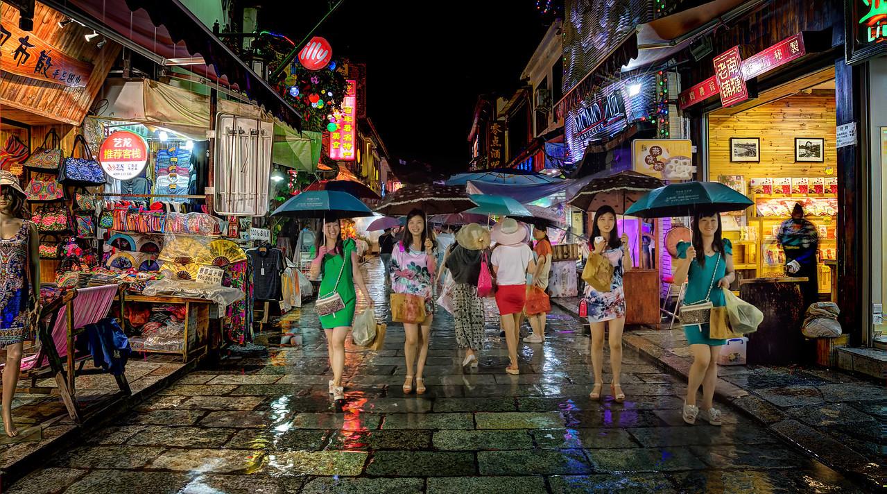 Walking Through Yangshuo