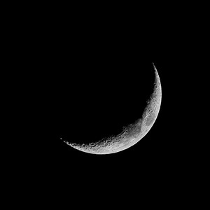 18% Waxing Crescent Moon