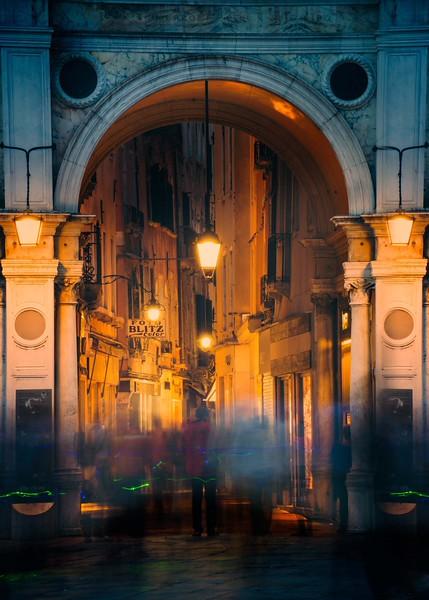 Leaving Saint Mark's Square in Venice