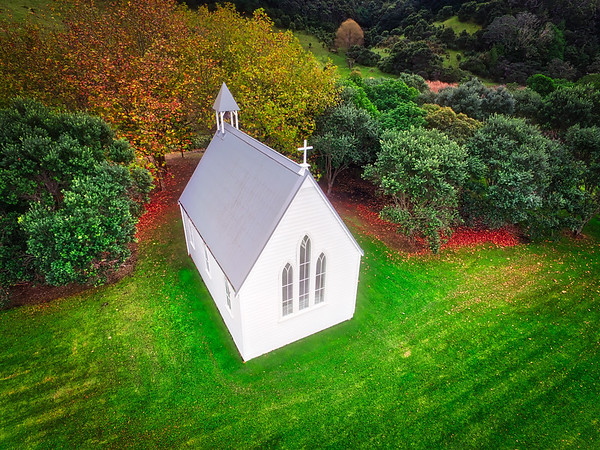 White Church From Above