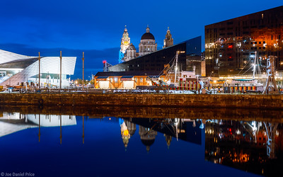 Canning Dock, Skyline, Liverpool, England