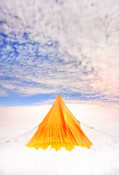 Pitching A Tent In Antarctica