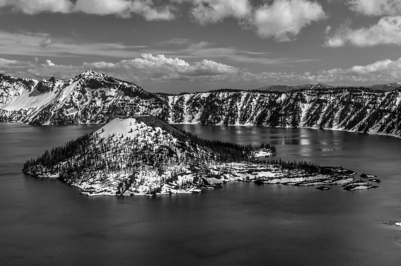 Crater Lake in Black & White