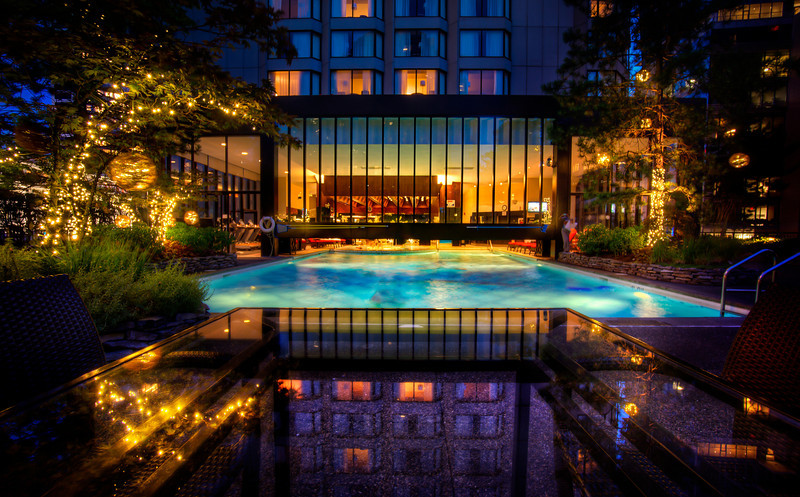 Nighttime Swim At The Four Seasons Vancouver