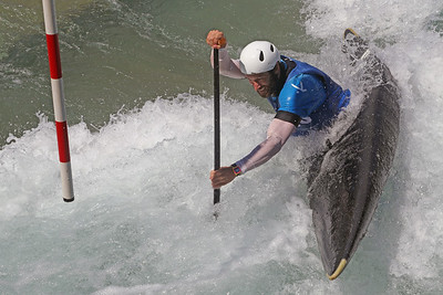 Devin McEwan competes at USA Canoe/Kayak Olympic Trials Day 1 at U.S. National Whitewater Center -- Monday, April 12, 2021