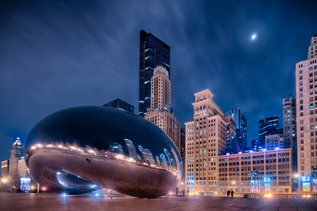 Cold Evening at The Bean
