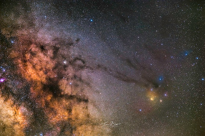 Looking towards the centre of our Galaxy.