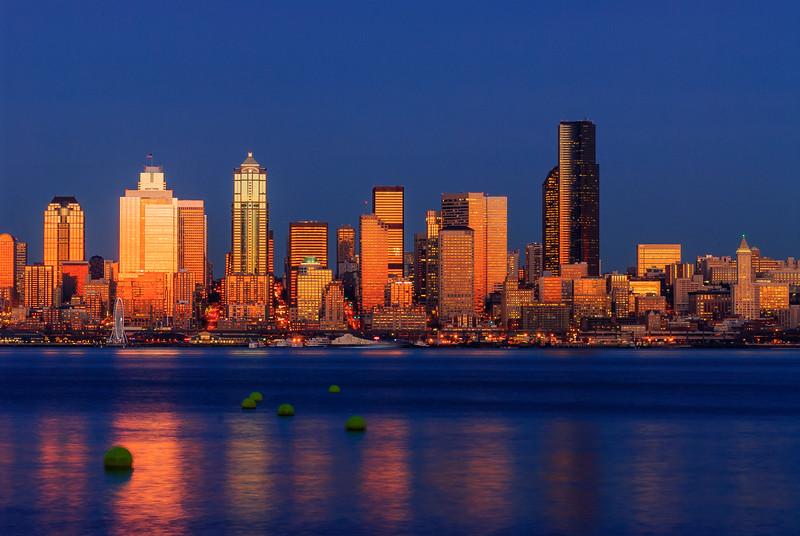 Seattle glow, Washington