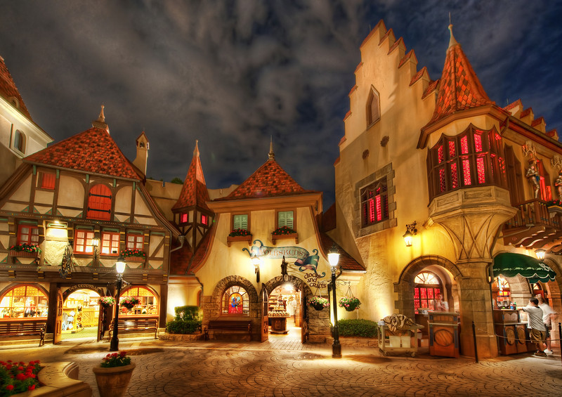 "<h2>Germanialand</h2> <br/>This is the German area of Epcot at DisneyWorld. I know it's always a bit disappointing when I say this, isn't it? I wish it was all real too… but, it is close-enough to real, so that's not so bad. It's like getting a pretty good milkshake or an above-average massage. No one complains about these things. And I didn't complain while here either… the architecture and feel was pretty cool… the food was good… no bitter-looking German tourists… a pretty good combo! :)<br/><br/>- Trey Ratcliff<br/><br/><a href=""http://www.stuckincustoms.com/2013/03/09/germanialand/"" rel=""nofollow"">Click here to read the rest of this post at the Stuck in Customs blog.</a>"