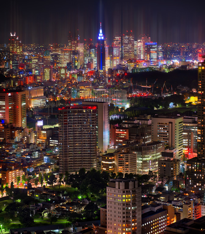 Beautiful Tokyo Skyline From The Ritz-Carlton