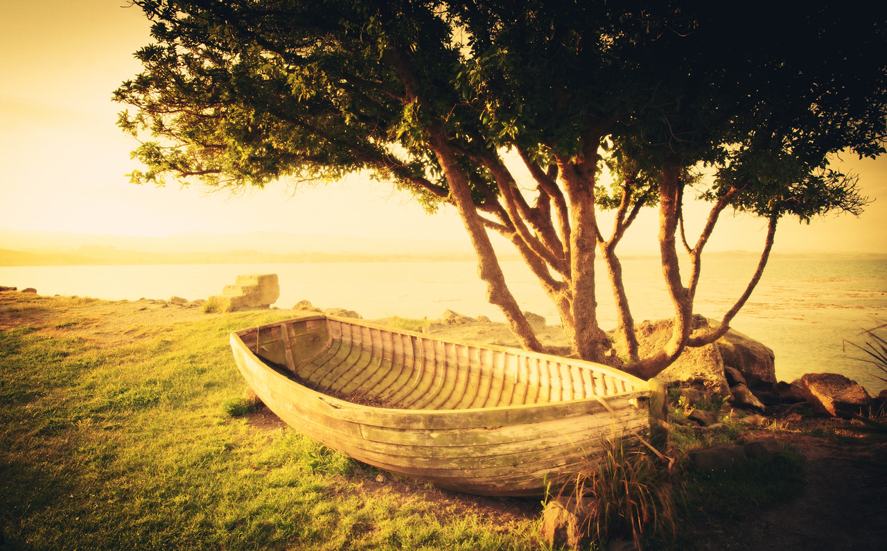"""Old Boat by the Seashore I was near Moeraki and taking photos at sunset. This was the only night I was there, and I was excited to eat at this legendary place I keep hearing about called """"Fleur's"""" — so I was extra-bummed to find out it happened to be closed on that one night in particular. What a bummer. But I walked around the back side to explore and saw this boat up by this tree…- Trey RatcliffClick here to read the rest of this post at the Stuck in Customs blog."""