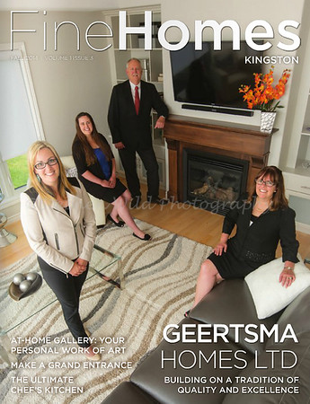 Fine Homes Magazine - Geertsma Homes Cover