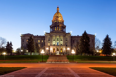 Blue Hour, Capitol Building, Denver, Colorado, America