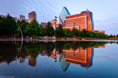 Reflection, Klyde Warren Park, Dallas, Texas, America