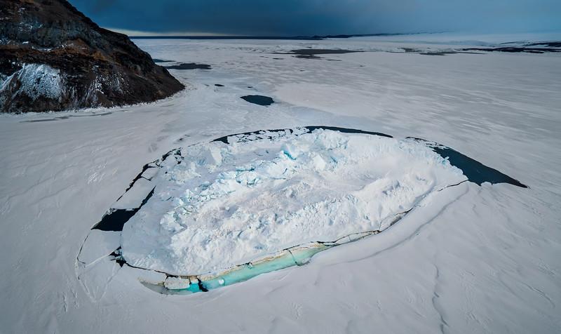Flying over the Ice Island